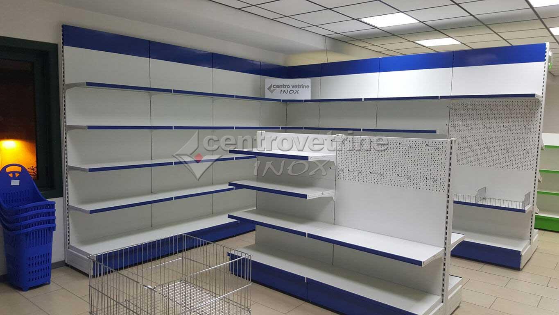 Arredamento cartoleria e cancelleria finiture blu for Arredamento edicola