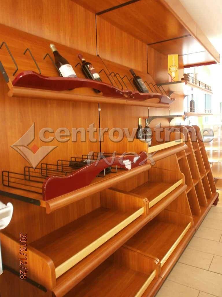 Scaffale enoteca ciliegio in legno for Gallery arredamenti