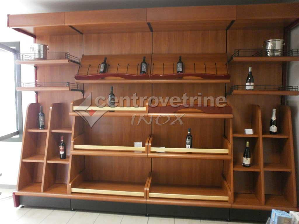 Scaffale enoteca ciliegio in legno for Arredamento enoteca usato