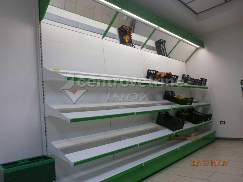 Scaffale frutta e verdura con specchio da 300 for Arredamenti per negozi di frutta e verdura