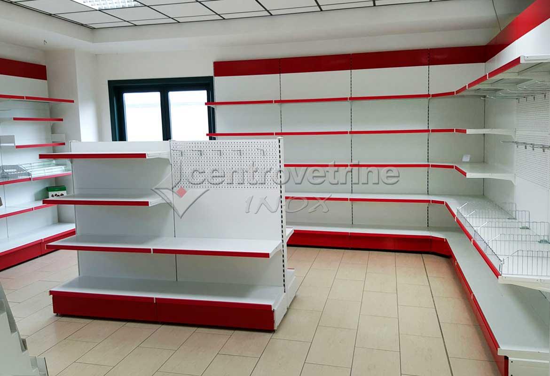Arredamento cartolibreria e cancelleria finiture rosse for Arredamenti on line
