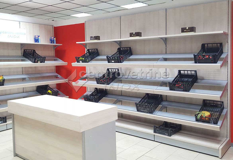 arredamento per negozi con scaffale frutta in legno CENTRO VETRINE INOX eeab4dd5ce6
