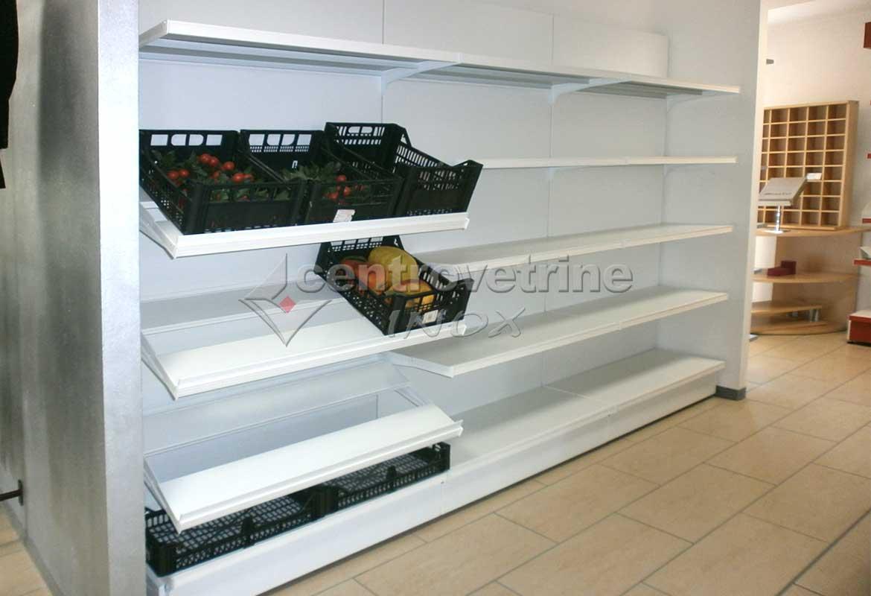 Scaffale in ferro per alimentari frutta e verdura for Scaffali legno arredamento