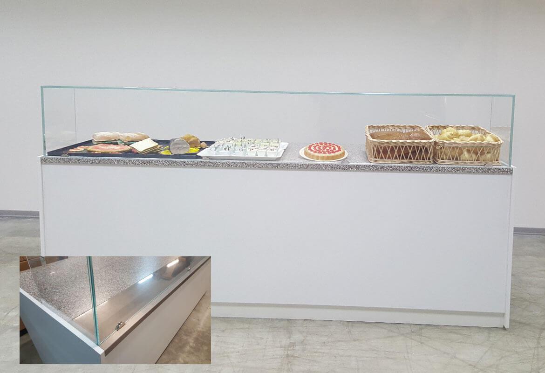Banchi refrigerati vetrine fredde e neutri murali frigo for Sev arredamenti