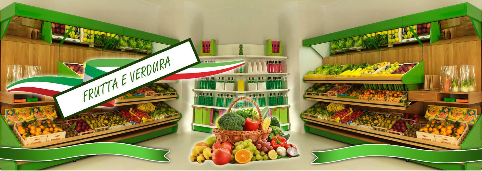 Arredamenti per negozi di frutta e verdura alimentari in for Arredamento frutta e verdura