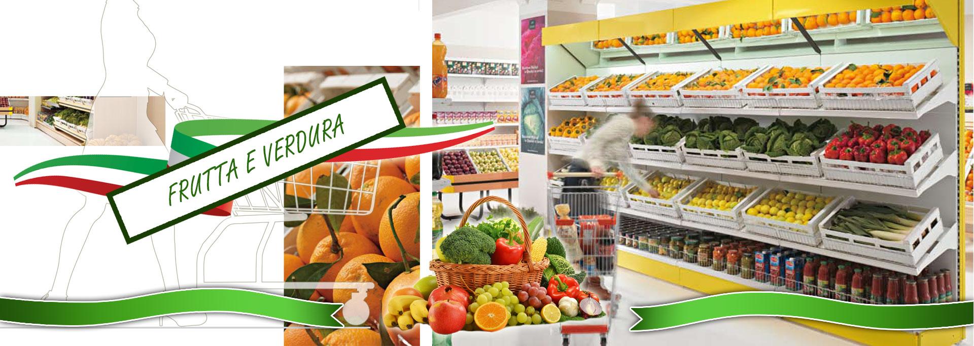 Scaffalature Per Negozi Alimentari.Arredamenti Per Negozi Di Frutta E Verdura Alimentari In Pronta