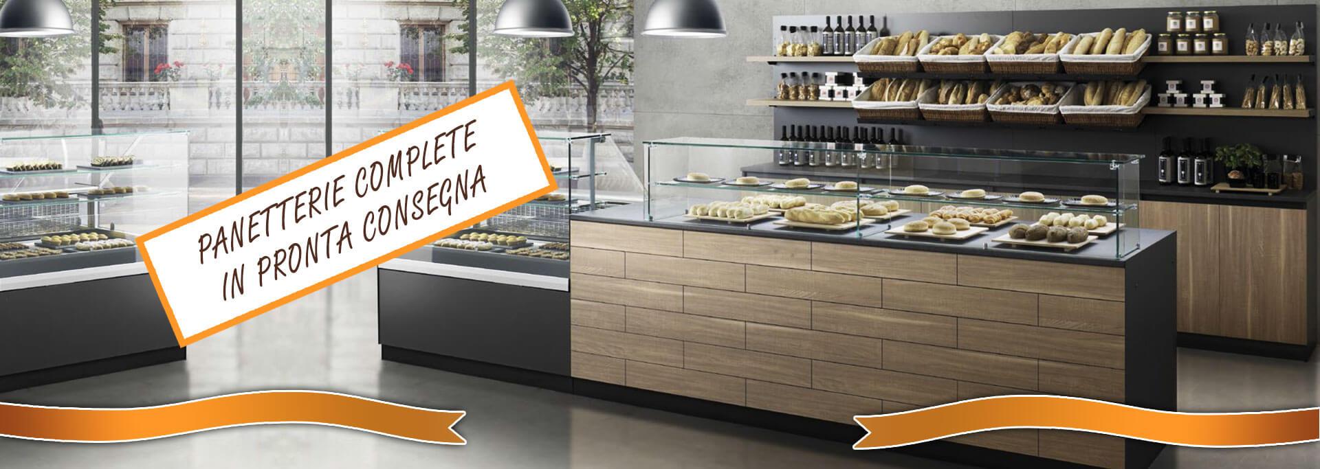 Arredamenti e retrobanchi completi di banchi in pronta for Arredamenti per negozi di gastronomia